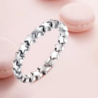 "Stříbrný prsten ""Hvězdičky"". Ag 925/1000"
