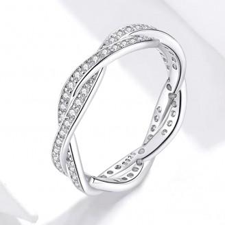 """Stříbrný prsten se zirkony """"Oslnivý lesk"""". Ag 925/1000"""