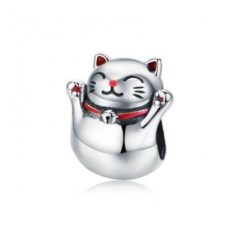 """Stříbrný korálek na náramek Pandora """"Maneki Neko"""". Ag 925/1000"""