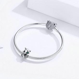 "Korálek stříbrný na náramek Pandora ""Liška"". Ag 925/1000"