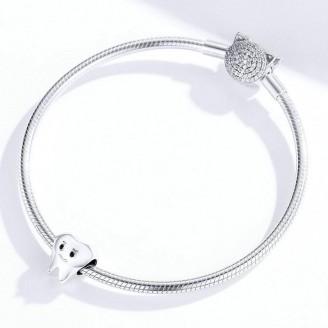 """Stříbrný korálek na náramek Pandora """"Dokonalý úsměv"""". Ag 925/1000"""