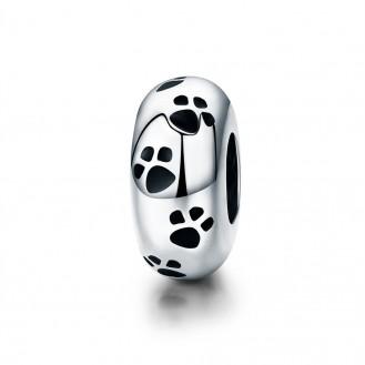 "Stříbrný korálek na náramek Pandora ""Stopy zvířat"". Ag 925/1000"