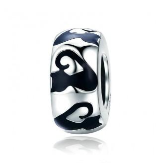 """Stříbrný korálek na náramek Pandora """"Černé kočky"""". Ag 925/1000"""