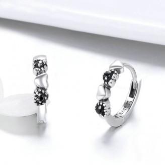 """Stříbrné náušnice kruhy se zirkony """"Lux"""". Ag 925/1000"""