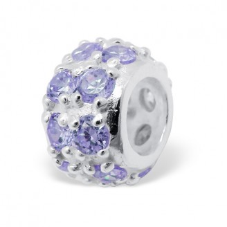 "Stříbrný korálek se zirkony na náramek Pandora. ""Květy"". Ag 925/1000"