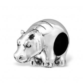 "Korálek stříbrný na náramek Pandora ""Hippo"" Ag 925/1000"