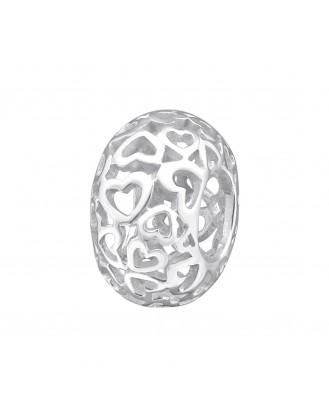 """Stříbrný korálek na Pandora náramek """"Darované srdíčko"""". Ag 925/1000"""