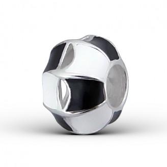 "Stříbrný korálek na náramek Pandora ""Eu"". Ag 925/1000"