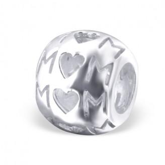 """Korálek stříbrný na náramek Pandora """"Mom"""". Ag 925/1000"""