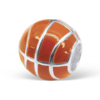 "Stříbrný korálek na náramek ""Basketbalový míček"". Ag 925/1000"