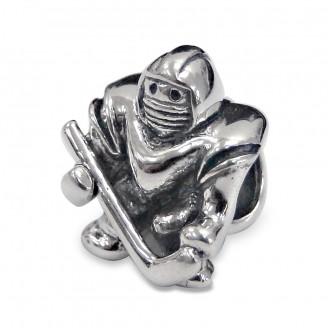 "Korálek stříbrný na náramek Pandora ""Brankář"". Ag 925/1000"