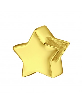 "Pozlacený stříbrný korálek na náramek Pandora ""Hvězda"". Ag 925/1000"