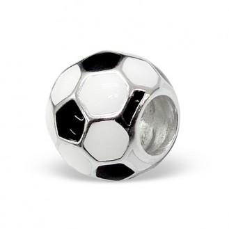 "Korálek stříbrný na náramek Pandora ""Fotbalový míč"". Ag 925/1000"