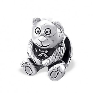 "Korálek stříbrný na náramek Pandora ""Medvídek Harry"". Ag 925/1000"