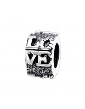 """Stříbrný korálek na náramek Pandora """"Láska"""". Ag 925/1000"""