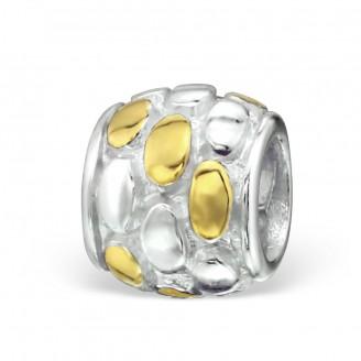 "Stříbrný pozlacený korálek na Pandora náramek ""Basis"". Ag 925/1000"