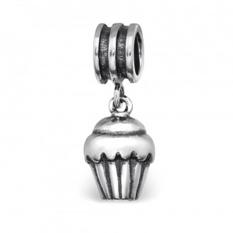 "Korálek stříbrný na Pandora náramek ""Cupcake"". Ag 925/1000"