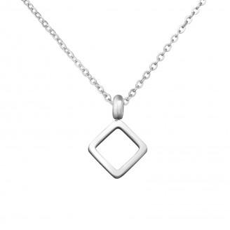 "Ocelový náhrdelník z chirurgické oceli ""Quadratum"""