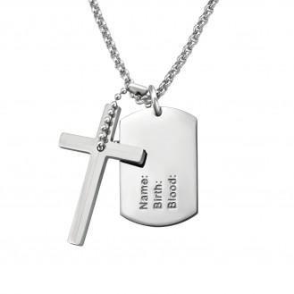 """Ocelový náhrdelník z chirurgické oceli """"Dog tags"""""""