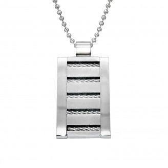 "Ocelový náhrdelník z chirurgické oceli ""Perfectio"""