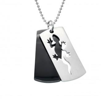 """Ocelový náhrdelník z chirurgické oceli """"Ještěrka"""""""