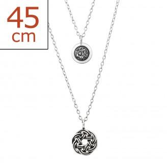 """Stříbrný náhrdelník """"Securitatem"""". Ag 925/1000"""
