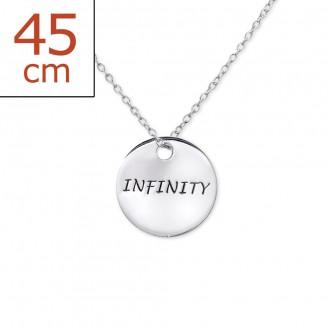 """Stříbrný náhrdelník """"Infinty-Nekonečno"""". Ag 925/1000"""