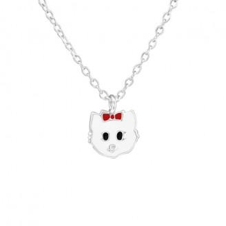 """Dětský náhrdelník stříbrný """"Kočička"""". Ag 925/1000"""
