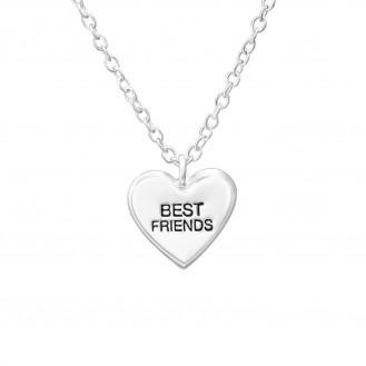 """Stříbrný náhrdelník """"Best friends"""". Ag 925/1000"""