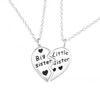 """Náhrdelníky stříbrné """"Moje sestra a já"""" II. Ag 925/1000"""