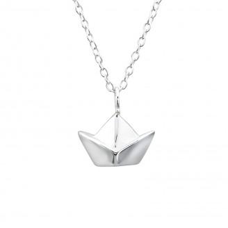 """Stříbrný náhrdelník """"Origami Lodě"""". Ag 925/1000"""