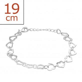 "Stříbrný náramek ""Cor"". Ag 925/1000"