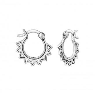 """Stříbrné náušnice kruhy """"Ericius"""". Ag 925/1000"""