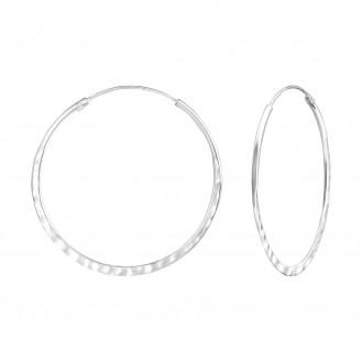 "Stříbrné náušnice kruhy ""Proprium"". Ag 925/1000"