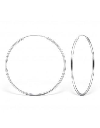 """Stříbrné náušnice kruhy """"Sonia"""". 2x60 Ag 925/1000"""
