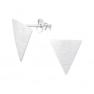 "Stříbrné náušnice na puzetu ""Geometrica"". Ag 925/1000"