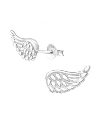 "Stříbrné náušnice ""Stříbrná křídla"". Ag 925/1000"