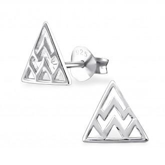 """Stříbrné náušnice pecky """"Stříbrny trojúhelník"""". Ag 925/1000"""