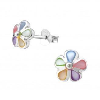 """Stříbrné náušnice """"Něžné květinky"""". Ag 925/1000"""