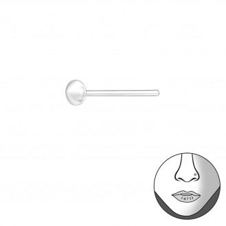 "Nosovka rovná stříbrná ""Kapka"". Ag 925/1000"