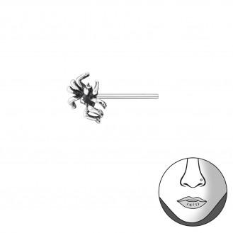 """Nosovka rovná stříbrná """"Pavouk"""" . Ag 925/1000"""