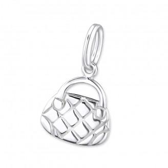 """Přívěsek na náramek stříbrný """"Kabelka"""". Ag 925/1000"""