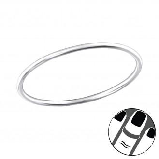 "Stříbrný midi prsten ""Simple"". Ag 925/1000"