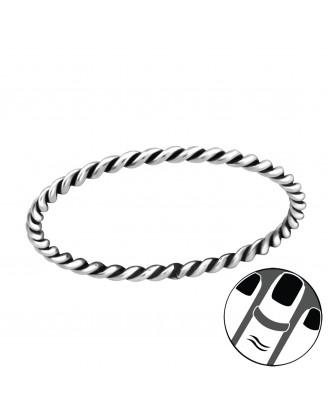 """Stříbrný midi prsten """"Rope"""" ox. Ag 925/1000"""