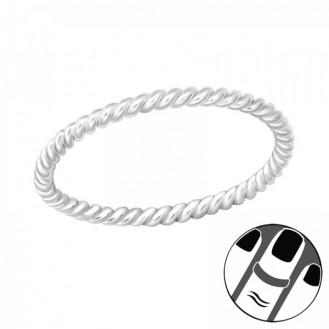 """Stříbrný midi prsten """"Rope"""". Ag 925/1000"""