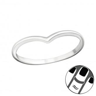 "Stříbrný midi prsten ""Heart"". Ag 925/1000"
