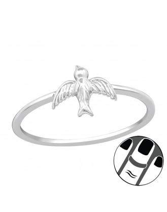 "Stříbrný midi prsten ""Ptáček"". Ag 925/1000"
