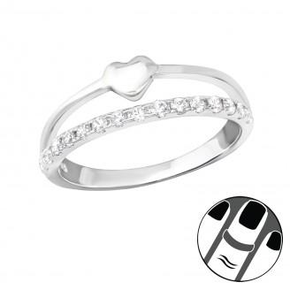 "Stříbrný midi prsten se zirkony ""Bellus"". Ag 925/1000"