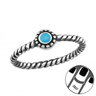 """Stříbrný midi prsten """"Bali"""". ox. Ag 925/1000"""