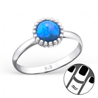 "Stříbrný midi prsten ""Modrý kamen"". Ag 925/1000"